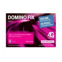 T-Mobile, 40 perc lebeszélhetőség,500 Mb.adatforgalom,aktiválatlan feltöltős SIM kártya,Domino Fix Quick,